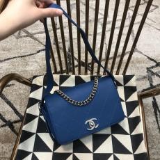 Chanel female trendy quilted flap handbag vintage messenger commuter bag elegant shoulder bag multicolor for option