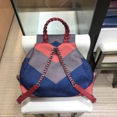 Chanel A095104 canvas tassel drawstring backpack color-contrast waterproof outdoor sport rucksack
