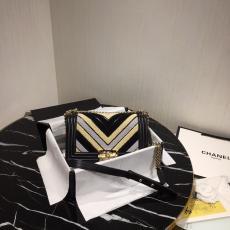 Chanel Le boy 25 chevron quilted exclusive messenger bag vintage chain-strap flap crossbody bag medium size