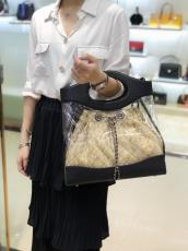 Chanel female lucent lightweight shopping tote bag lovely outdoor sand beach bag holiday traveling bag