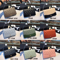 Chanel Gabrielle WOC flap  classic quilted chain-strap crossbody bag versatile small square envelope bag multiple color variation