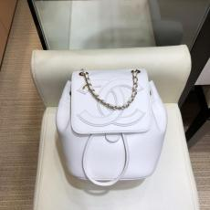 Chanel AS0322 solid drawstring mini backpack embroidered CC logo