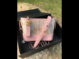 Chanel Gabrielle hobo bag female mixed-material stunning commuter messenger bag chain-strap crossbody bag in rare Python leather small size