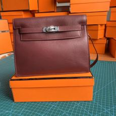 Hermes Kelly danse 22cm crossbody shoulder bag purely-handmade versatile vintage satchel bag gorgeous street outfits