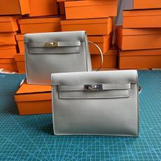 Hermes Kelly danse 22cm vintage versatile satchel bag elegant socialite clutch casual lightweight crossbody bag with detachable strap