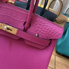 Hermes BIrkin Touch 30cm handbag purely-hand-stiched traveling holiday bag  large-capacity briefcase laptop bag  in crocodile and togo leather