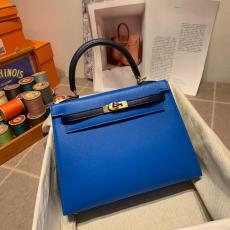 Hermes Kelly 25cm top-handle handbag purely-handmade women's piece vintage crossbody shoulder bag in chevere leather gold hardware