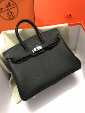 Hermes Birkin 25cm top-handle handbag elegant open lightweight shopping tote bag indispensable female piece  in togo calfskin leather