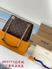 M43775 Louis Vuitton/LV Surène BB Mixed-material sling-chain shopping tote bag ultimate version of built-in clip