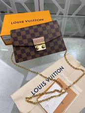 N60287 Louis Vuitton Croisette WOC wallet-stype chian-strap  crossbody shoulder bag socialite party clutch  In damier canvas