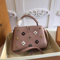M54310 Louis Vuitton/Lv Capucines BB Top-handle handbag large-capacity outdoor traveling shopping bag decorated with mechanical flowers