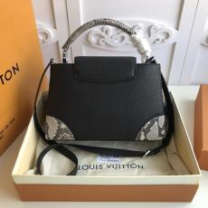 N94410 Louis Vuitton/LV Capucines PM handbag mixed-material large-capacity shopping tote bag with protective base studs