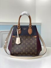 M45409 Louis Vuitton/LV Fold tote handbag female lightweight monogram shopping traveling bag amply internal space for essential terms