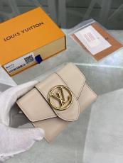 M69176 Louis Vuitton/LV female clamshell three-folding small wallet short purse multislots card holder