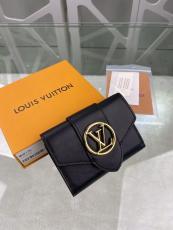 M69175 Louis Vuitton/LV female clamshell three-folding small wallet short purse multislots card holder