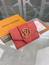 M69177 Louis Vuitton/LV female clamshell three-folding small wallet short purse multislots card holder
