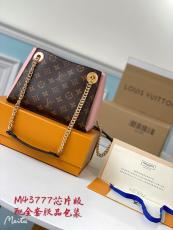 M43777 Louis Vuitton/LV Surène BB Mixed-material sling-chain shopping tote bag ultimate version of built-in clip