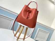 M45394 Louis Vuitton/Lv twist drawstring open handbag bucket crossbody bag with internal zipper separate compartment and monogram lining