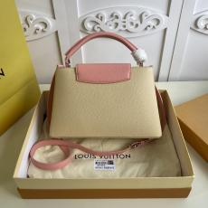 ultimate Version M55910 Louis Vuitton/LV Capucines BB tote handbag feminine double-compartment large-capacity traveling shopping bag with protective base studs