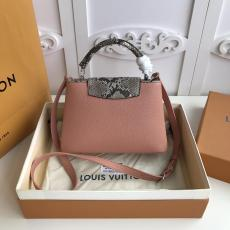 M95509 Louis Vuitton/LV Capucines BB handbag feminine mixed-material shopping tote bag double-compartment travelling holiday bag perfectly present  lady's gorgeous casual look