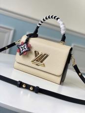 M56779 Louis Vuitton/LV Twist Epi handbag vintage Scratch-proof messenger crossbody bag with  braided handle and symbolic twist-lock