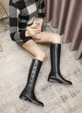 Gucci female Classic flat vegetable-tanned leather high boot