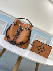 M56888 Louis Vuitton/LV NéoNoé MM handbag feminine drawstring open bucket bag with braided handle and monogram printing