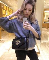 M55948 Louis Vuitton/LV Pont 9 handbag feminine vintage messenger crossbody bag with built-in clip for code scanning
