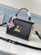 M56780 Louis Vuitton/LV Twist Epi handbag vintage Scratch-proof messenger crossbody bag with  braided handle and symbolic twist-lock