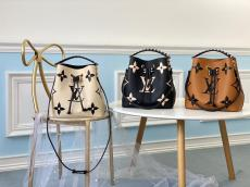 M56889 Louis Vuitton/LV NéoNoé MM handbag feminine drawstring open bucket bag with braided handle and monogram printing