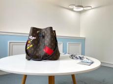 limited edition M44021 Louis vuitton/Lv Neonoe handbag elegant open drawstring bucket bag with three-compartments