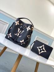 M56890 Louis Vuitton/LV NéoNoé MM handbag feminine drawstring open bucket bag with braided handle and monogram printing