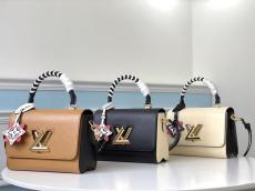 M56849 Louis Vuitton/LV Twist Epi handbag vintage Scratch-proof messenger crossbody bag with  braided handle and symbolic twist-lock