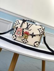 M45384 Louis vuitton/LV Pochette Métis crafted handbag monogram-printed vintage messenger crossbody bag with detachable strap and iconic S-lock