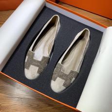 Hermes female casual breathable suede flat ballerinas shoe ballet toe shoe well-matched women's shoe piece   gorgeous street wear