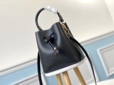 M45394 Louis Vuitton/Lv twist drawstring open handbag bucket crossbody bag with internal zipper separate compartment