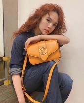 M55946 Louis Vuitton/LV Pont 9 handbag feminine vintage messenger crossbody bag with built-in clip for code scanning