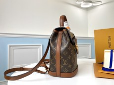 Ultimate version M45142 Louis Vuitton/LV Dauphine monogram mini backpack color-contrast vintage versatile handbag with built-in clip for inductive code scanning