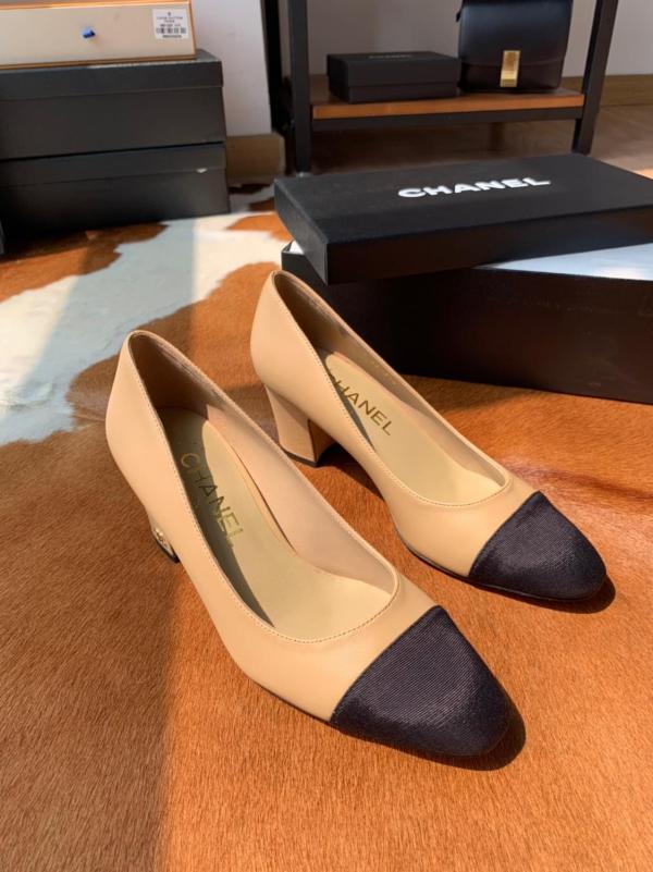 Chanel female casual pointed-toe pchunky medium heel