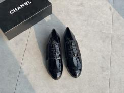 Chanel Female business lace-up round-toe flat Oxford shoe comfortable loafer slip-on