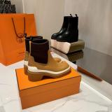 Hermes female classic Chelsea leather elastic ankle boot