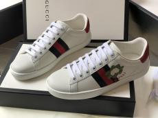 Gucci female casual flat athletic shoe 3D-printed lace-up  sneaker couple shoe trendy white shoes multiple color for election