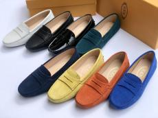 Tod's female colorful casual flat loafer skim-proof durable driver shoe multiple color for option