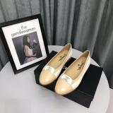 Chanel lady's stylish flat casual silp-on lightweight breathable loafer foldable ballet toe shoe with embroidered logo