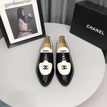 Chanel female sleek lace-up pointed-toe Oxford shoes skim-proof comfortable driver shoes