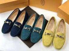 Tod's female casual flat loafer shoe suede breathable driver shoe disposable stylish street wear