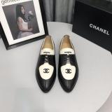 Chanel female  lace-up pointed-toe leather Oxford shoes skim-proof comfortable driver shoes
