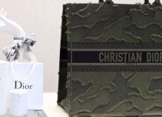 Dior elegant embroidered-velvet book tote handbag lightweight traveling shopping bag arrive in double size