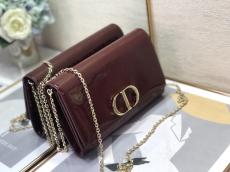 Dior lady 30 Montaigne WOC chain-strap flap crossbody bag graceful eye-capturing socialite evening clutch with magnetic fastener and detachable strap