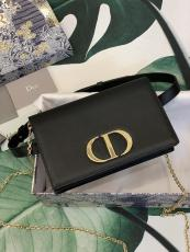 Dior classic 30 Montaigne multi-purpose waist chest bag multislots card holder long purse wallet paired with chain and leather strap for both carrying on shoulder or wearing around waist